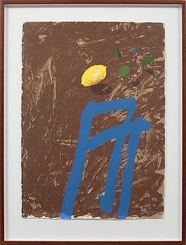 LENNART ASCHENBRENNER, litograph in colours, signed, dated 00 and numbered 27/96.