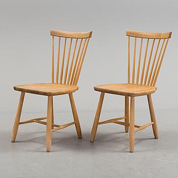 """CARL MALMSTEN, stolar, ett par, """"Lilla Åland"""", Stolab, 2004."""