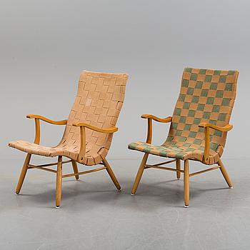 FÅTÖLJER, ett par snarlika, Swedish Modern, 1940-tal.