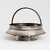 A russian silver bread basket, unidentified maker's mark jb, st petersburg, 1878.