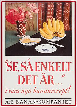 AFFISCHER, 2 st, Fyffes Bananer och AB Banankompaniet, 1900-talets andra hälft.
