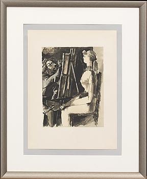 PABLO PICASSO, efter, ur Verve 29-30, Mourlot Paris 1954.