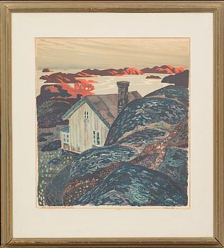 ROLAND SVENSSON, färglitografi, signerad, provtryck II etat.
