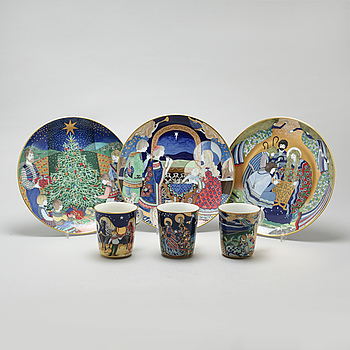 "A porcelian set of table ware of 18 pcs, ""Julpoesi"", Rörstrand, 20th century."