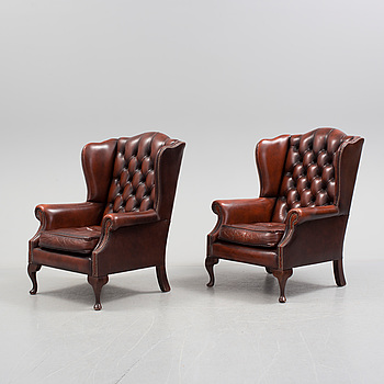 A pair of 1960s/1970s easy chair.