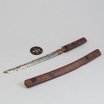 WAKIZASHI, 2 st, Japan, 1800-talets andra hälft.