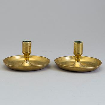 RESELJUSSTAKAR, ett par, mässing, Sverige, 1700-tal.