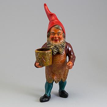 TOMTE, figurin, målad terrakotta, Tyskland, 1900-talets andra hälft.
