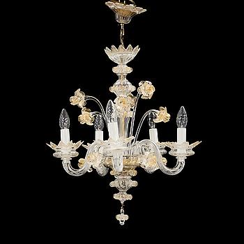 TAKKRONA, glas, venetiansk stil, 1900-talets mitt.