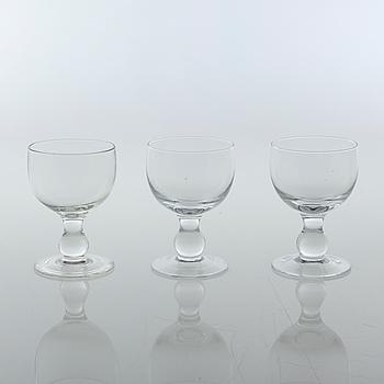 ERIK HÖGLUND, eleven wine glasses, Boda.