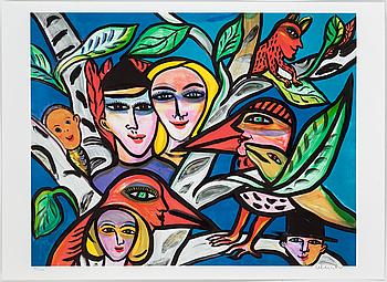 ULRICA HYDMAN-VALLIEN, färglitografi, signerad o numrerad 922/1600.
