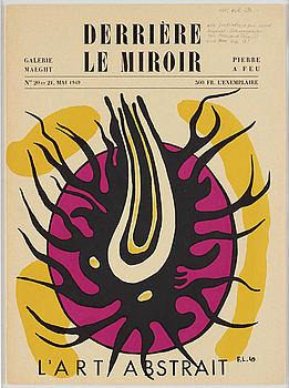 FERNAND LÉGER, 1949, färglitografi,  upplagan om 2000 ej signerad eller numrerad.