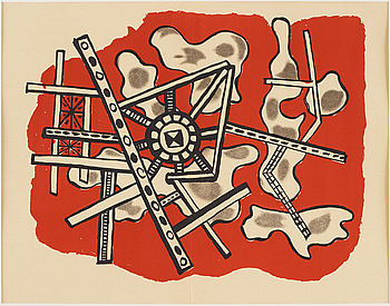 FERNAND LÉGER, FERNAND LÉGER, litograph in colours, edition of 2000 not signed or numbered, 1949.