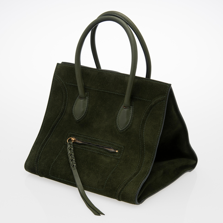 5640010bf0d60 A Dark Green Medium Phantom Tote bag. - Bukowskis