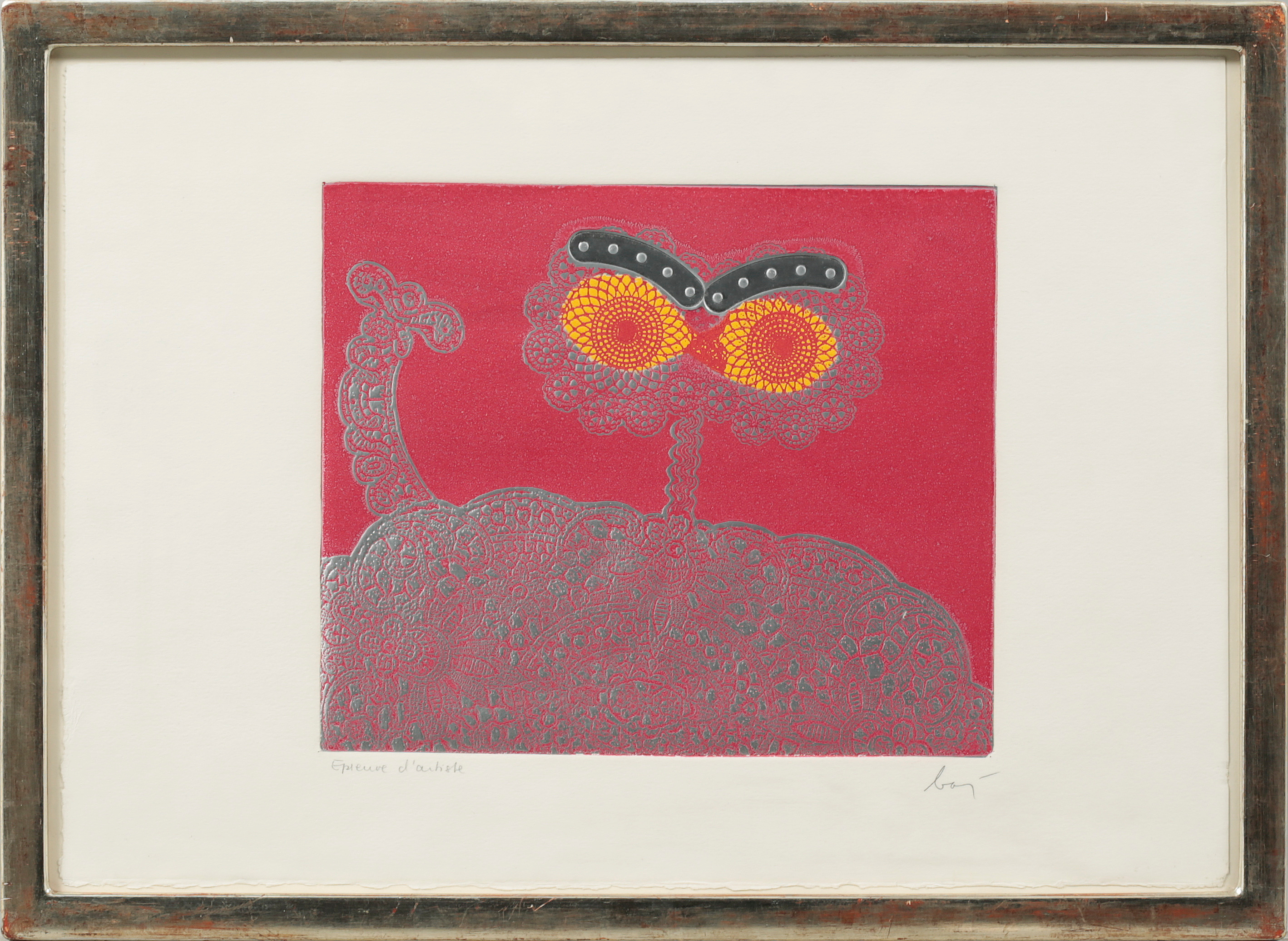 ENRICO BAJ, ENRICO BAJ, aquatint in colours, signed and numbered ...