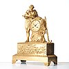 A french empire early 19th century mantel clock.