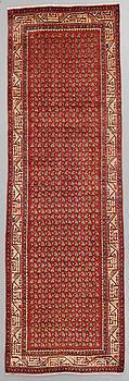 A RUNNER, Sarouk Mir, around 304 x 100 cm.