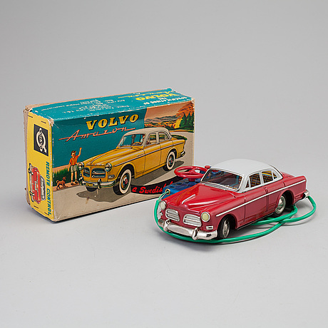 A battery powered toy car from ks, japan, 1960's
