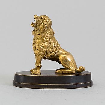 BLÄCKHORN, förgylld brons, empire, 1800-talets första hälft.