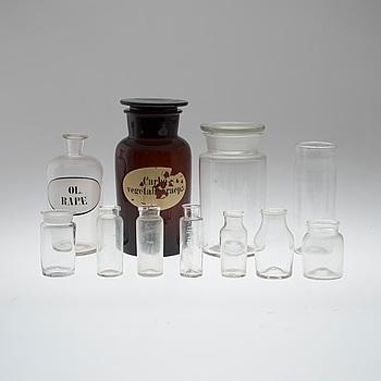 BURKAR, 11 st, glas, 1800-tal.