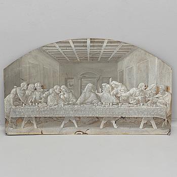 UNKNOWN ARTIST, tinplate, en grisaille, 19th century.