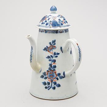 KAFFEKANNA, porslin, Kina, Kangxi 1700-talets början.