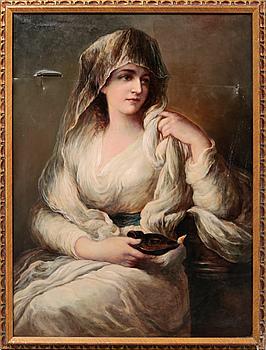 OIDENTIFIERAD KONSTNÄR, kopia efter Angelica Kauffmann, olja på duk, signerad F. Dietrich.