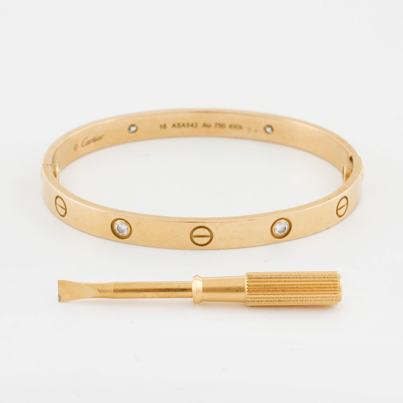 Prix usine 2019 offre spéciale vente en magasin CARTIER, Love bracelet with four brilliant cut diamonds ca ...