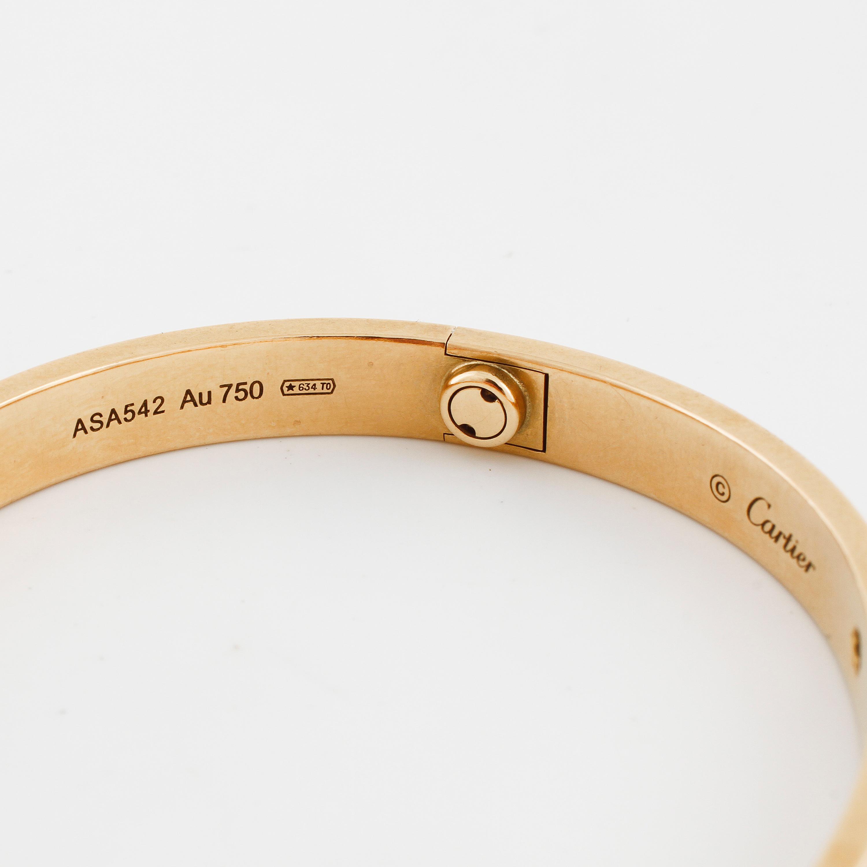 fba944ba24f61 CARTIER, Love bracelet with four brilliant cut diamonds ca 0.40 ct ...