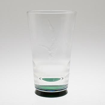 VICKE LINDSTRAND, VICKE LINDSTRAND, a glass vase from Orrefors.