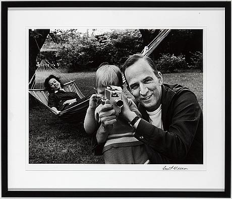 Lennart nilsson, photograph, signed lennart nilsson