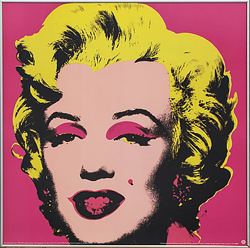 """ANDY WARHOL, ANDY WARHOL, after, offset lithograph/poster, """"Marilyn Monroe"""", 1993. """"Published by teNeues Publishing Company, New York."""