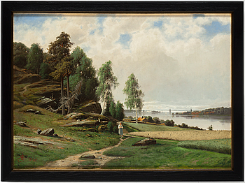 JACOB SILVÉN, JACOB SILVÉN, Oil on paper-panel, signed and dated 1886.