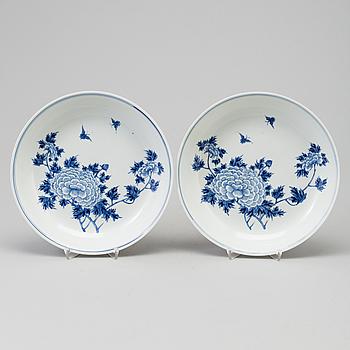 FAT, ett par, porslin. Qingdynastin, Guangxu (1875-1908).